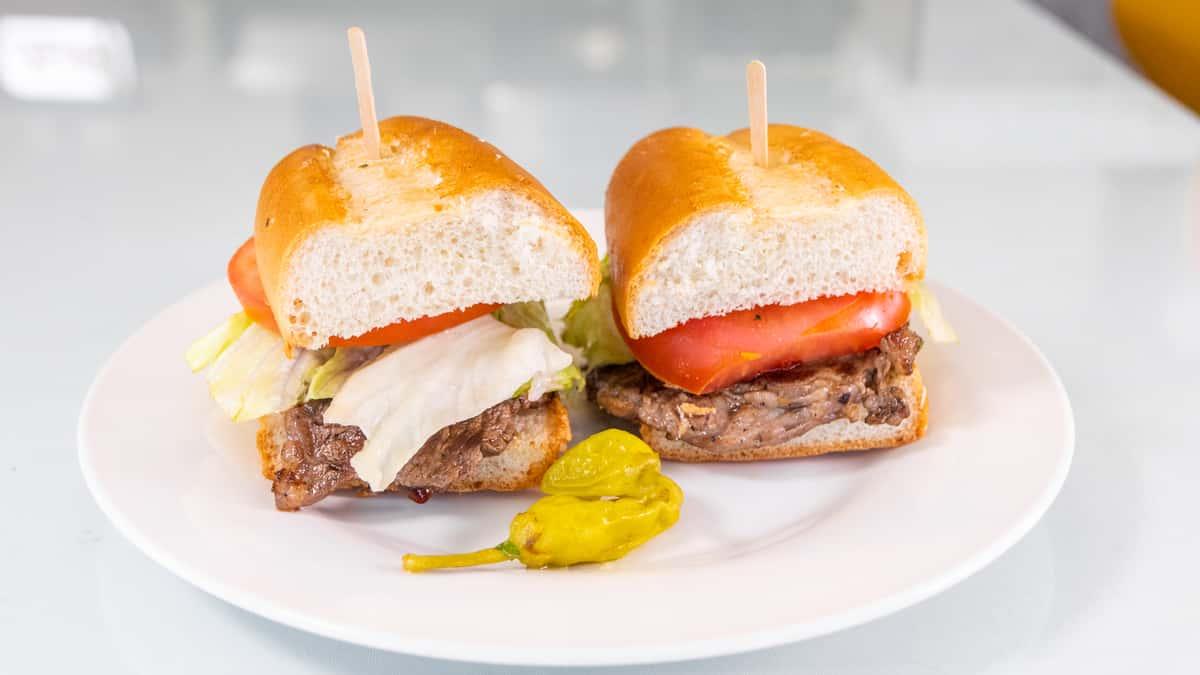 Rib-eye Steak Sandwich