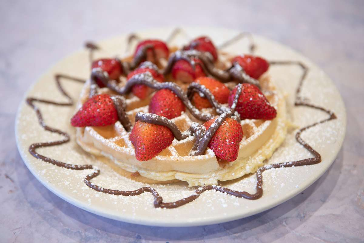 Strawberry Nutella Belgian Waffle