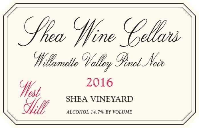 Shea Wine Cellers Pinot Noir '16
