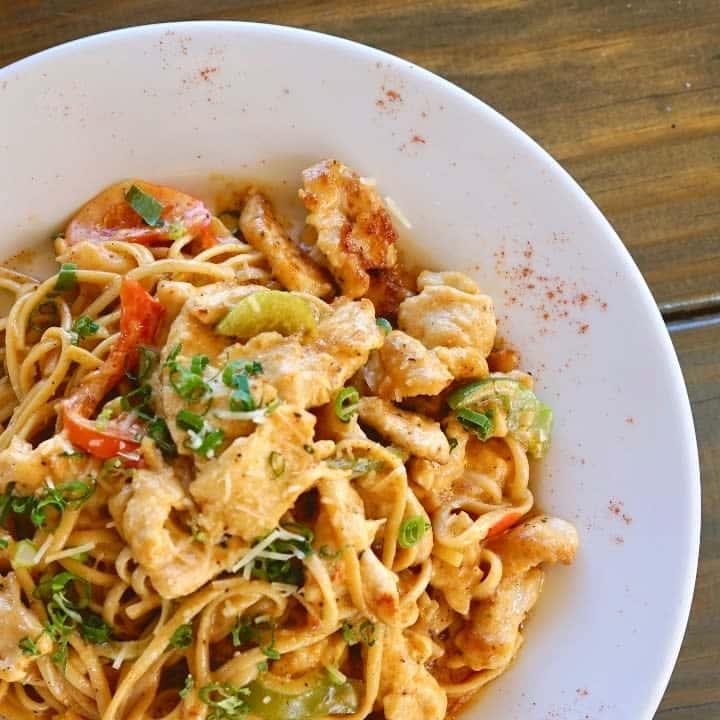 Spicy Cajun Chicken Pasta