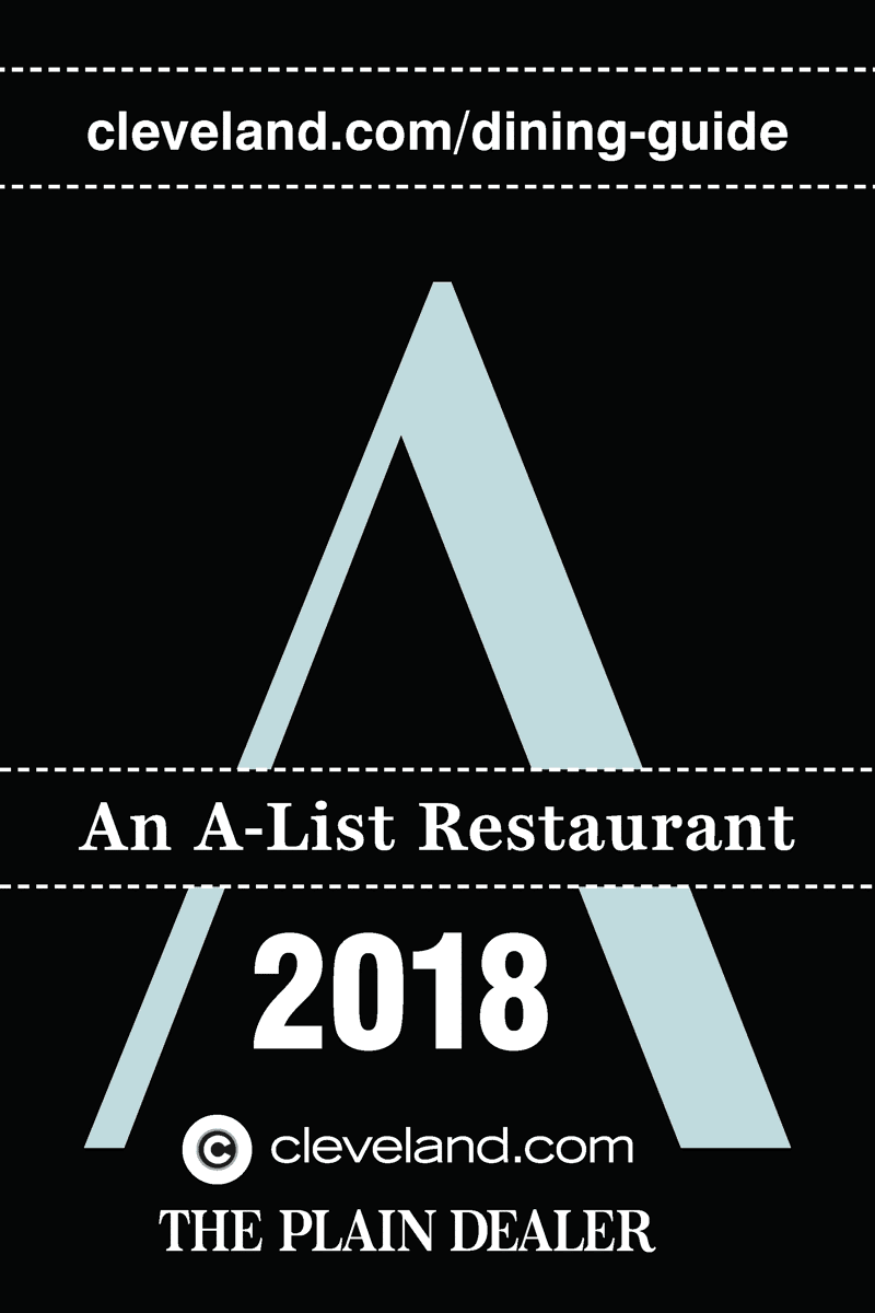 A List Restaurant award