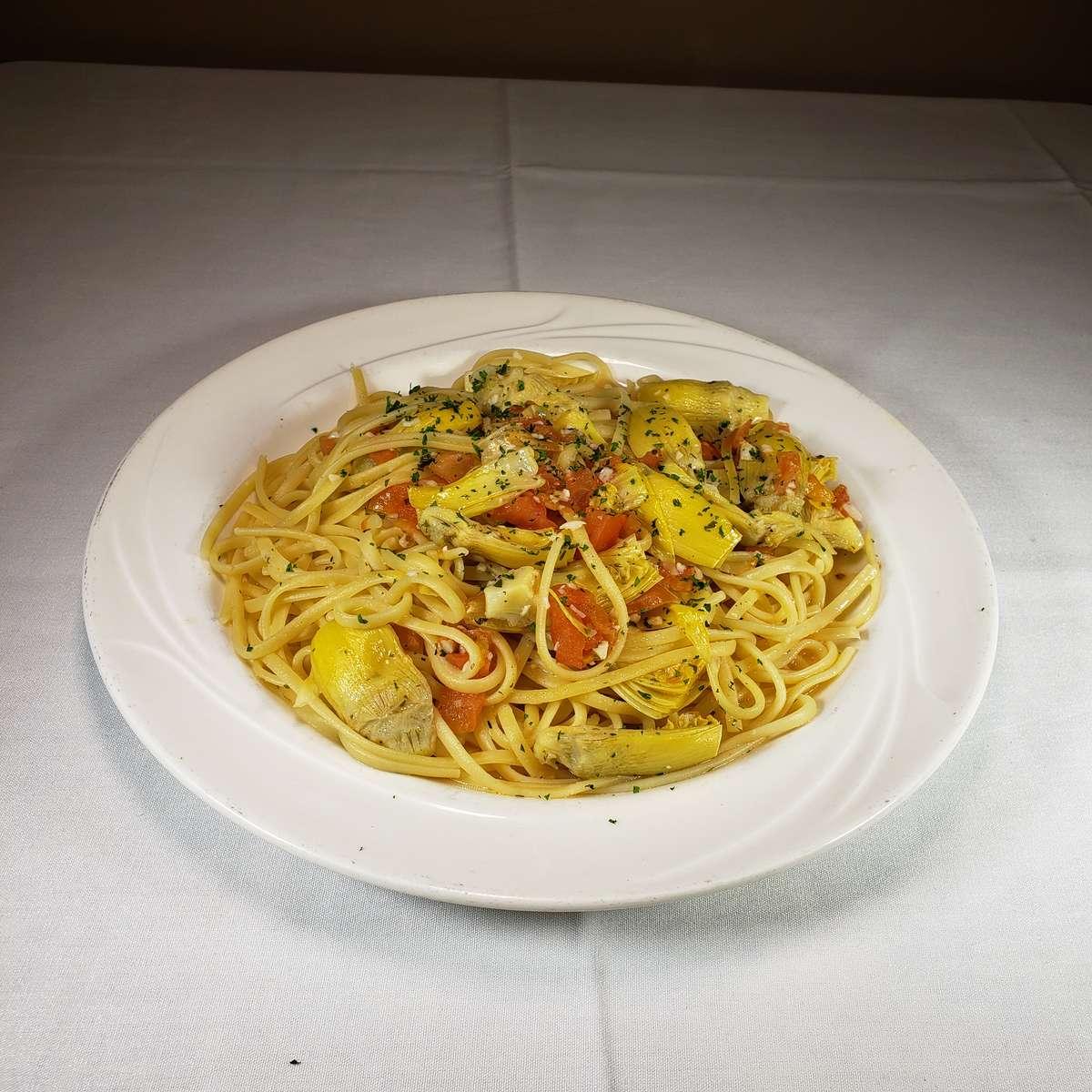 Linguini with Artichokes