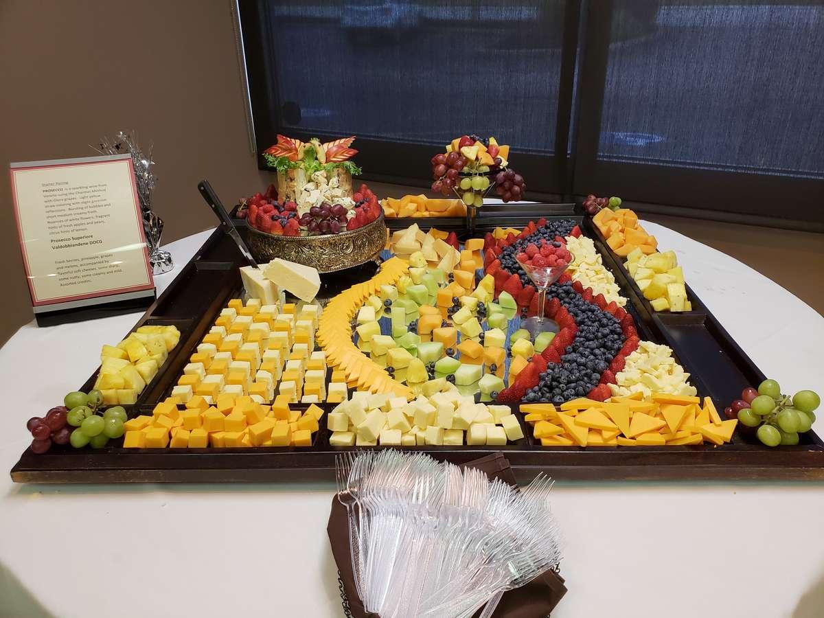 Cheese & Fresh Fruit Display