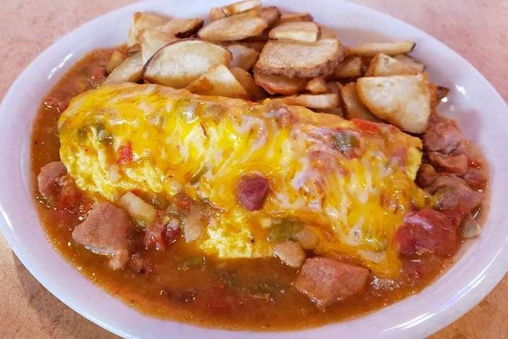 #60 Green Chile Stew Omelet