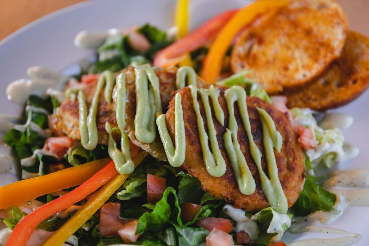 Tamale Cakes Salad