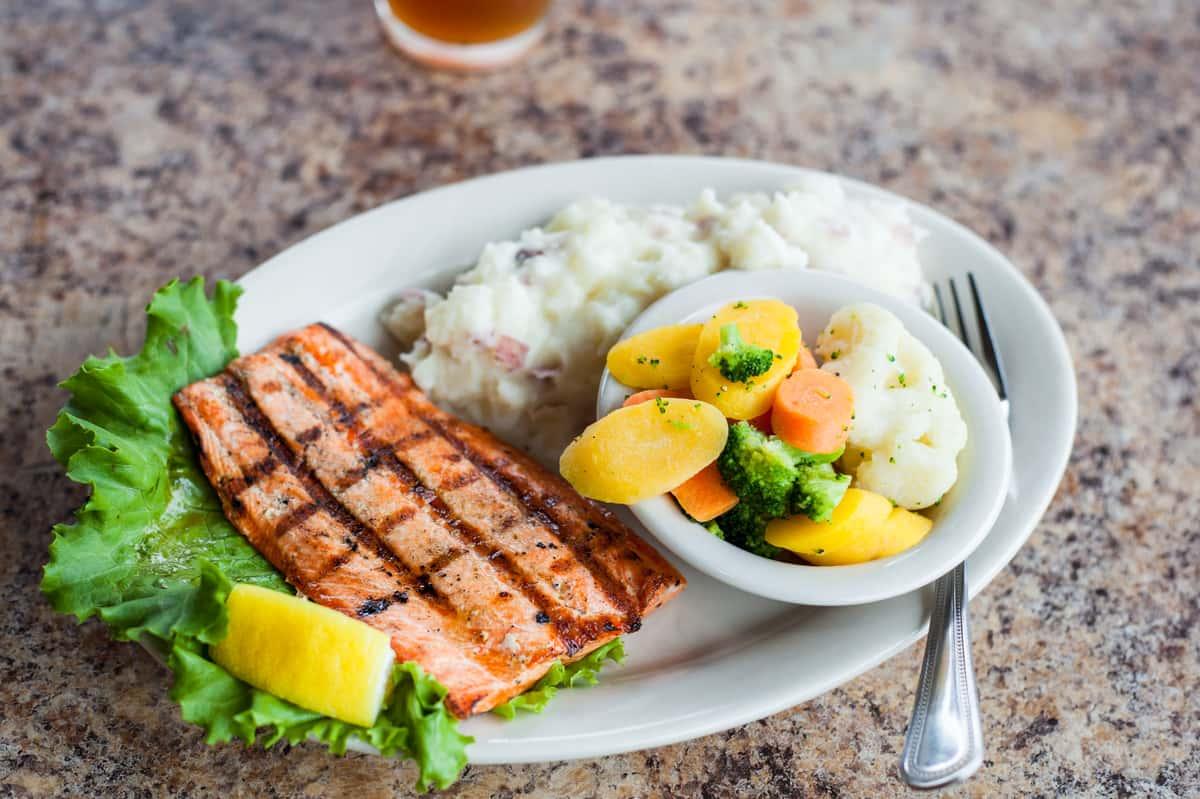 Wild Sockey Salmon Dinner
