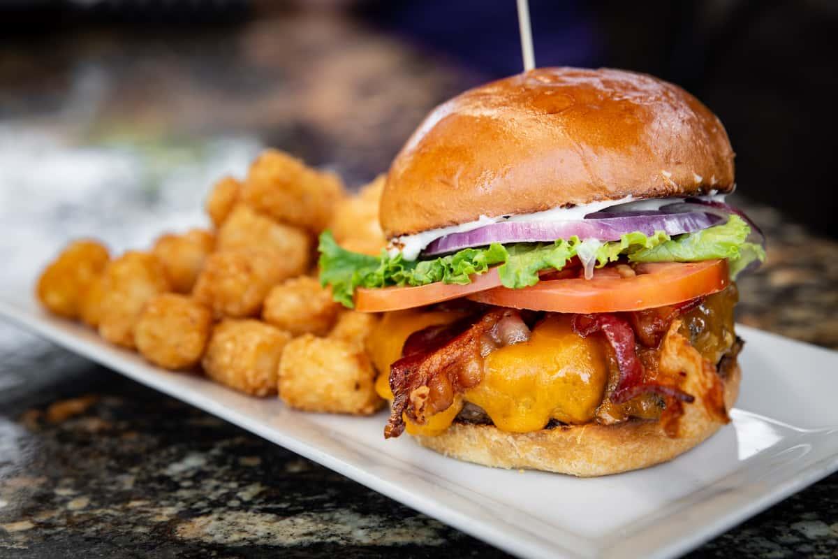 cheeseburger and tots