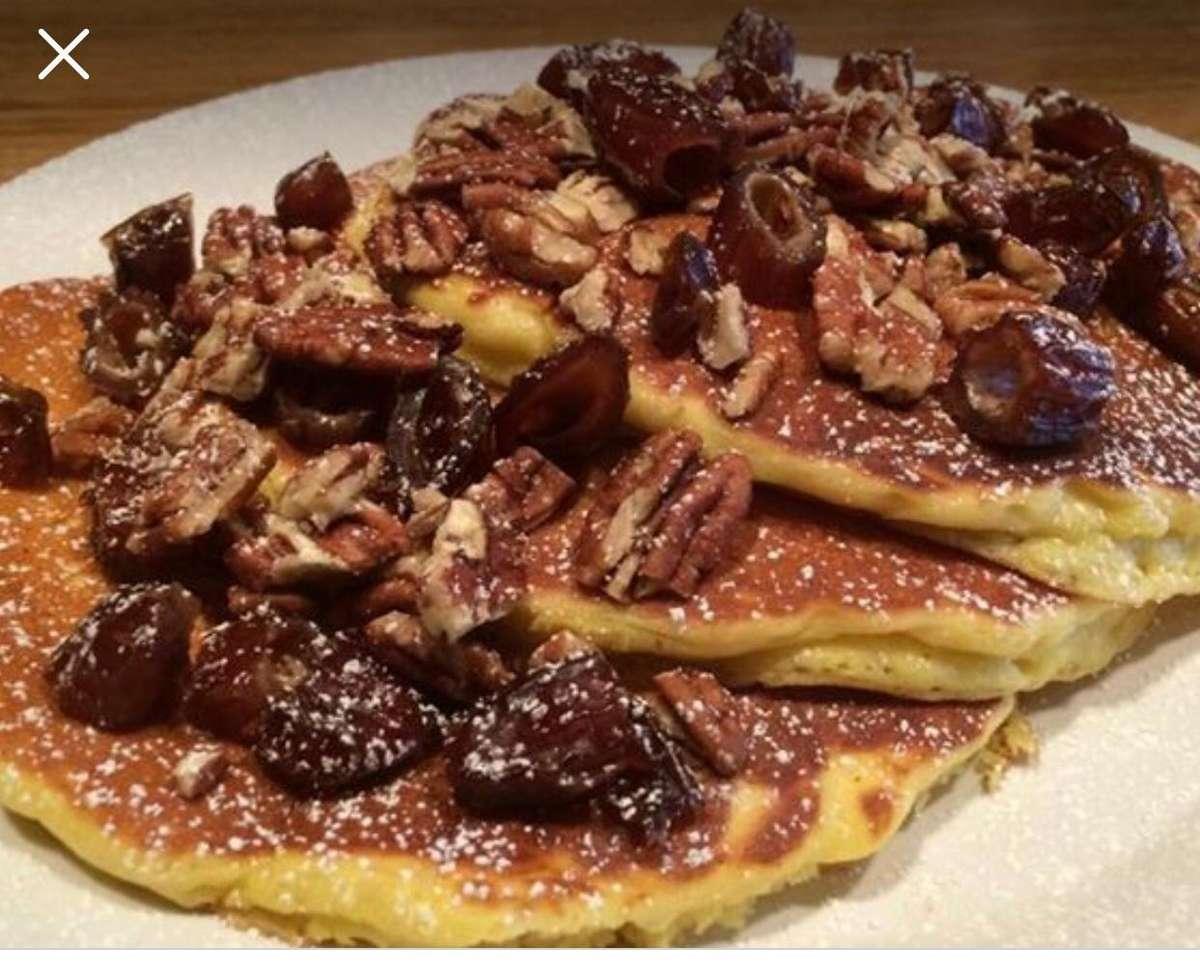 Date Nut Pancakes