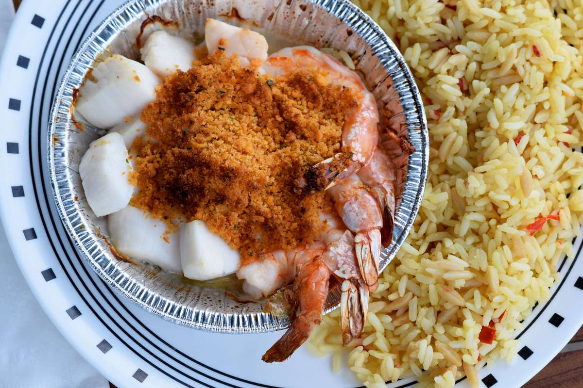 Baked Scallop & Butterfly Shrimp Platter