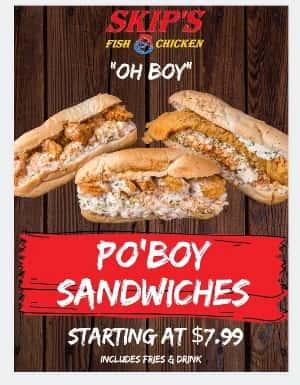 Po'Boy sandwiches