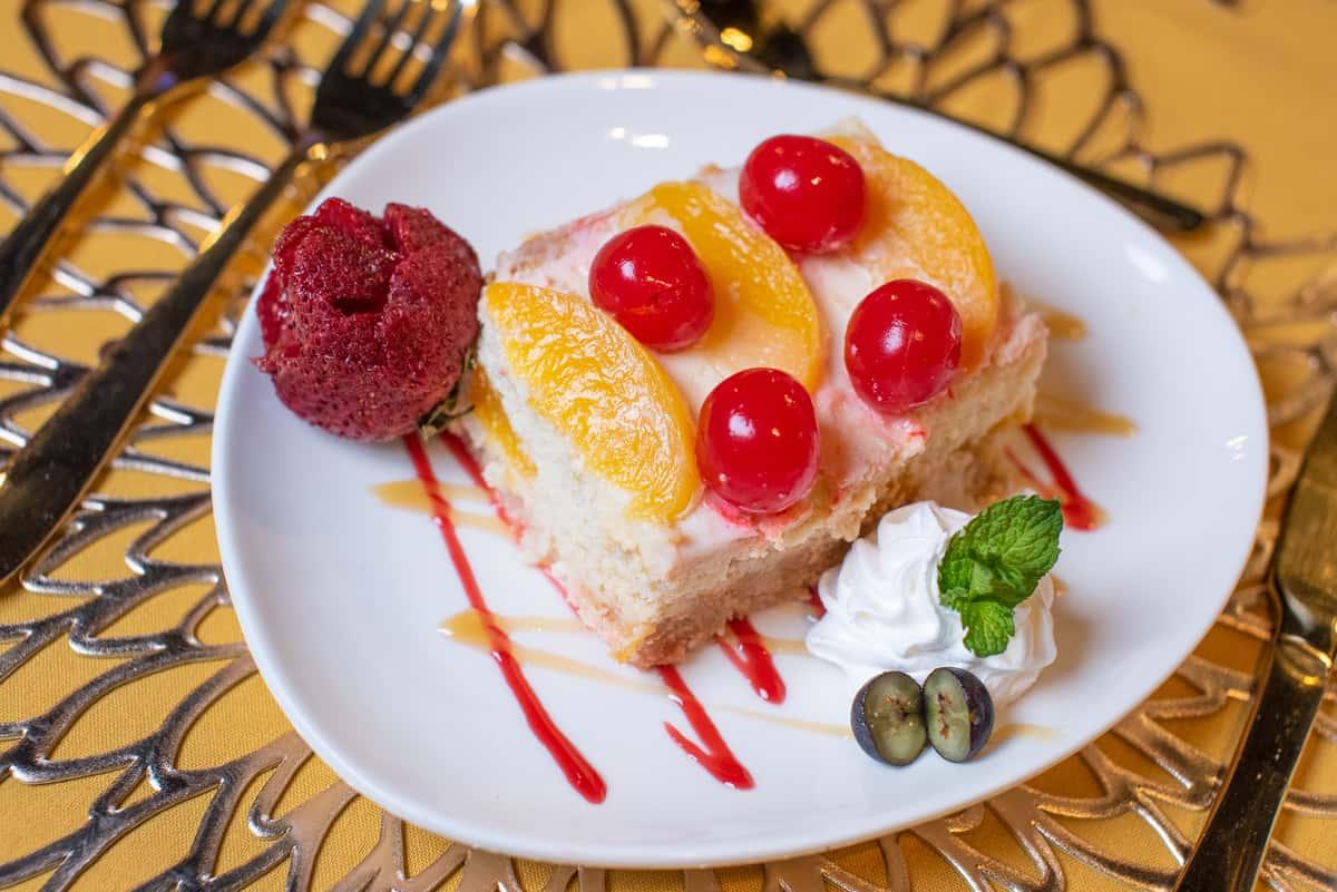 Torta Fria de Melocoton- Peach Cake