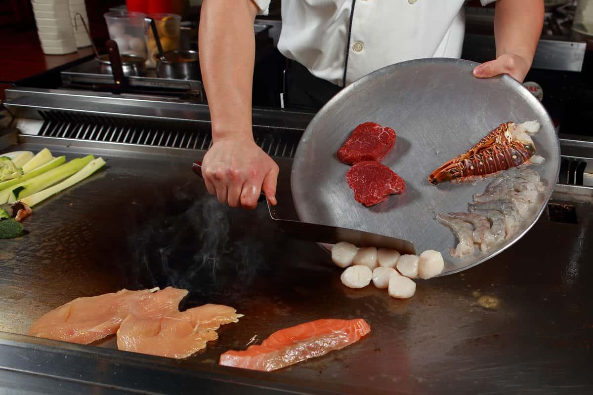 cooking hibachi