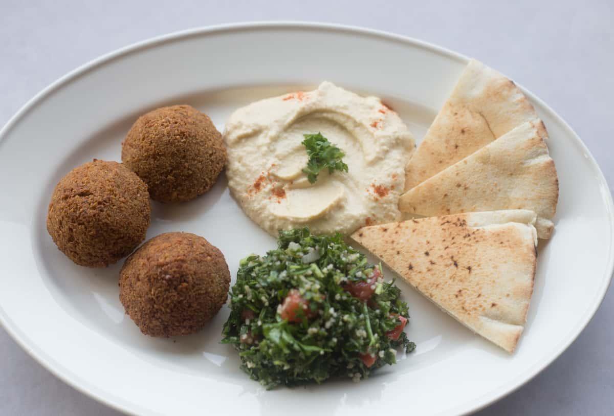 falafel and hummus