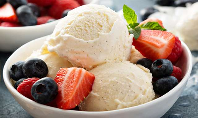 Berries and Ice Cream