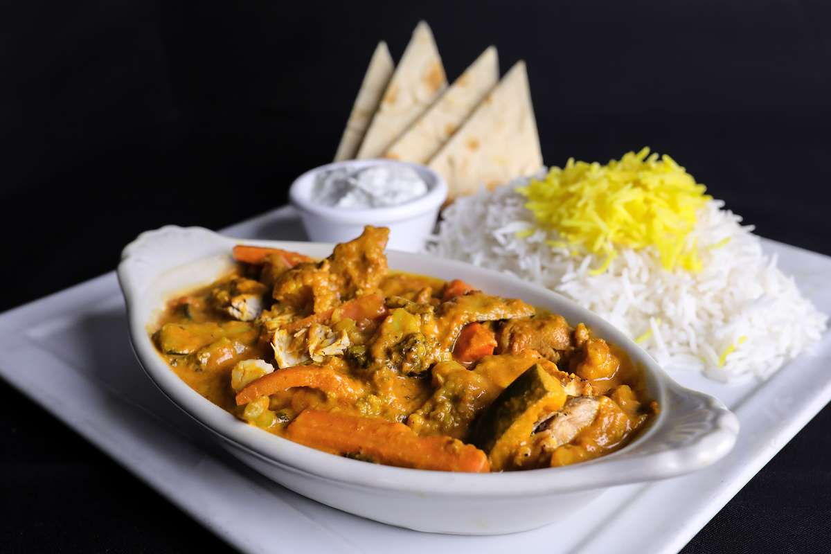 Port Yellow Chicken Curry Plate