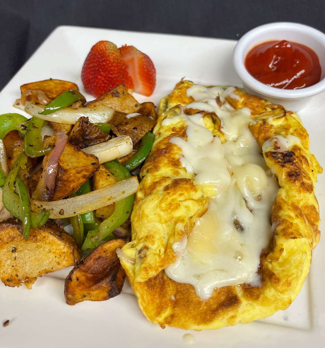 Sausage and Herb Omelet