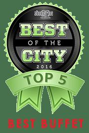 Best of the City 2016 - Top 5 - Best Buffet