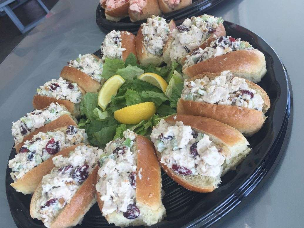 Chicken Cranberry Walnut Salad Minis