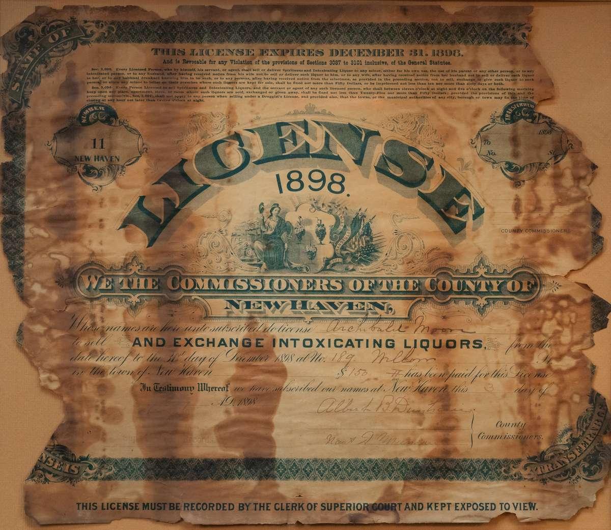Old liquor license