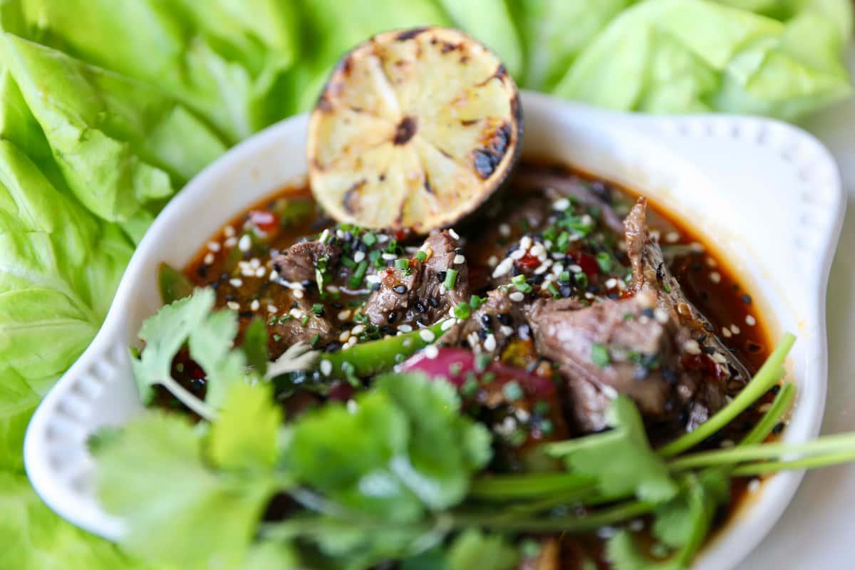 Thai Beef Lettuce Wraps* [Creekstone Farms]