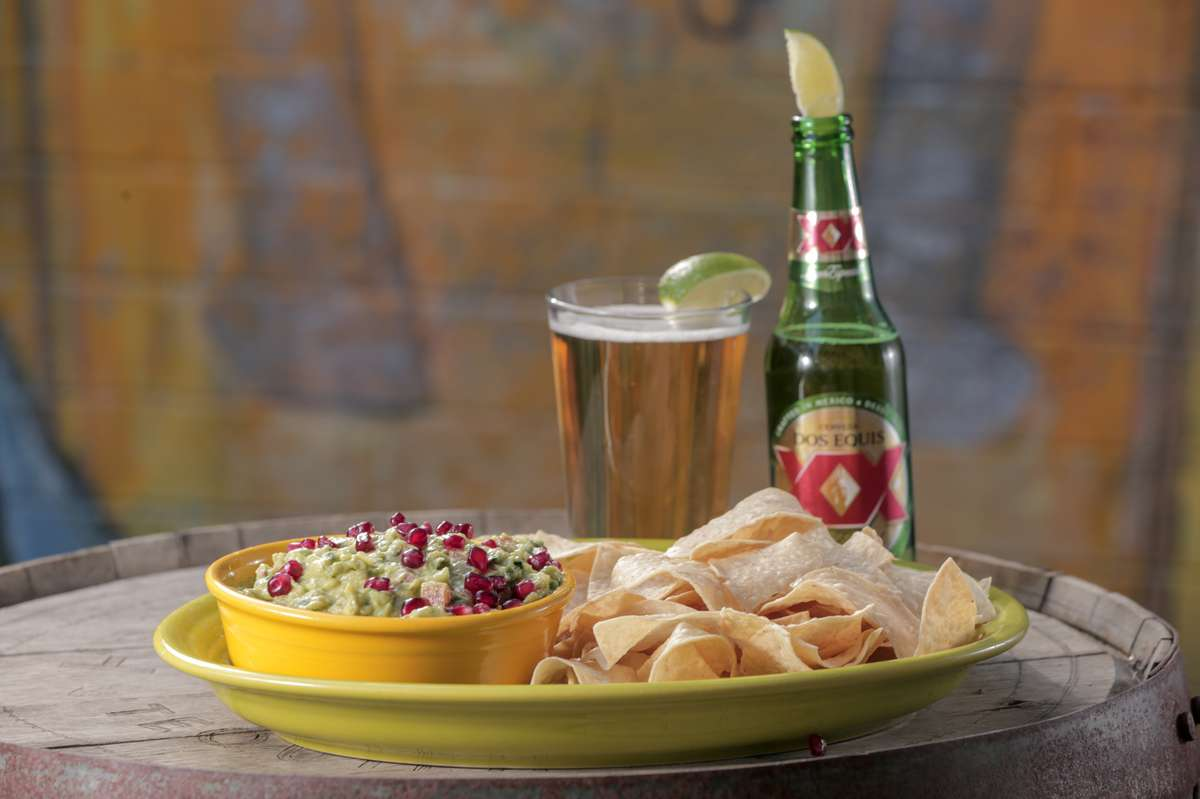 guacamole and beer