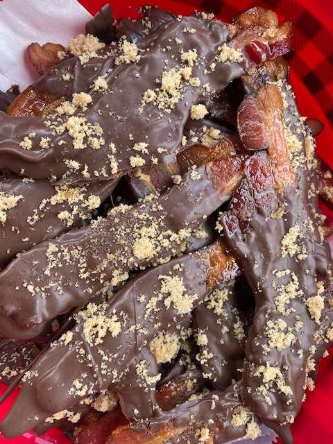 Chipotle Maple Chocolate Covered Bacon