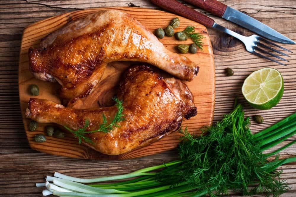Santa Maria Style Quarter Leg Chicken Dinner Plate