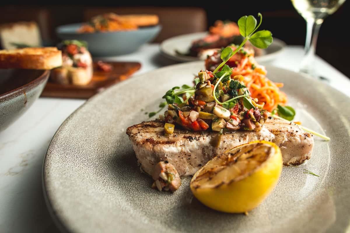 Grilled Swordfish with Salsa Cruda