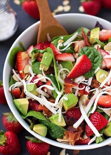 Filthy Filly's Own Strawberry Spinach Salad
