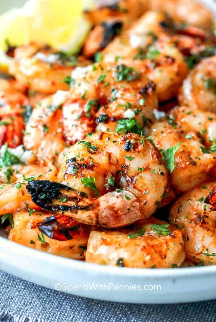 Garlic Griddled Shrimp