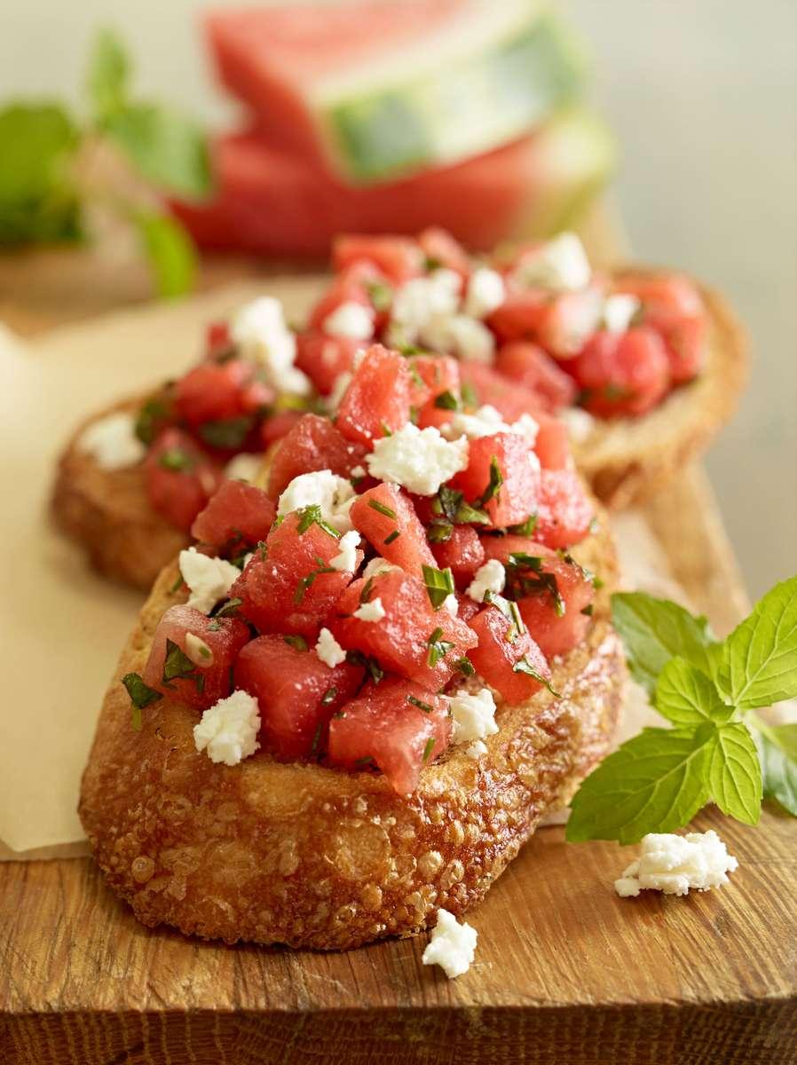 Feta Watermelon Bruschetta