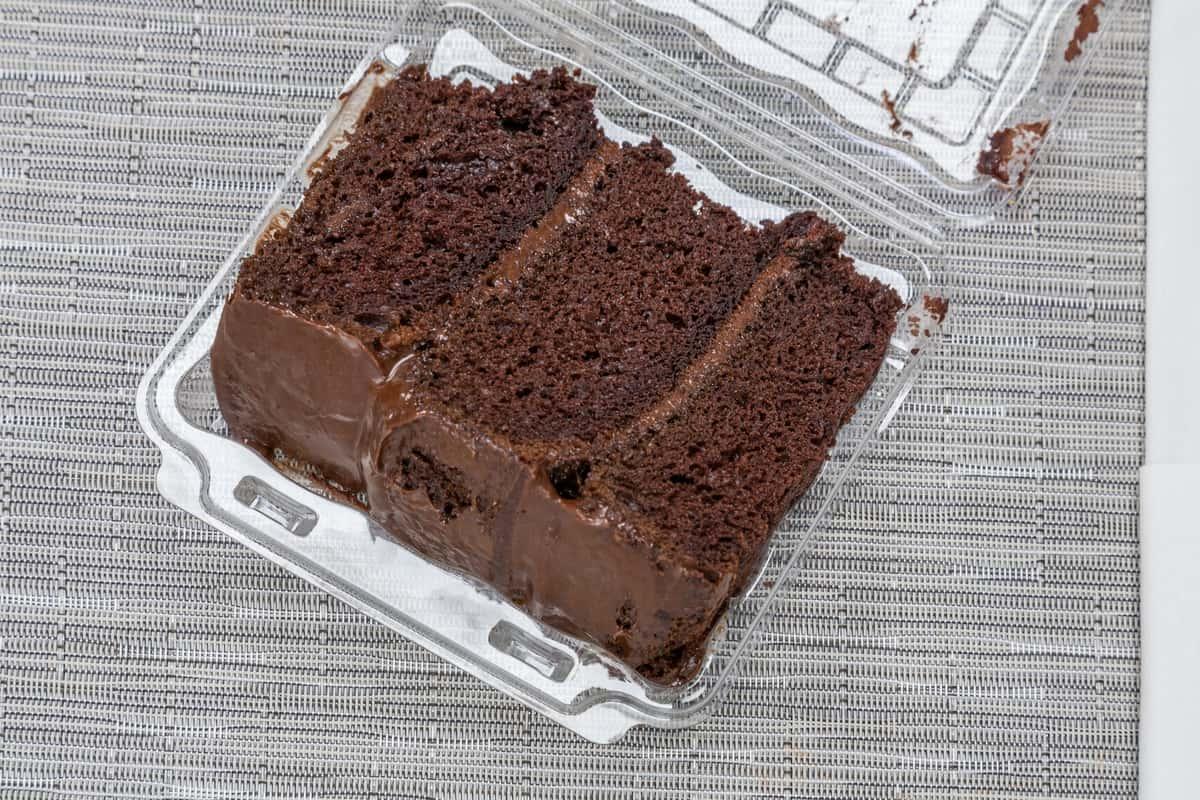 Chocolate-Chocolate Cake Slice