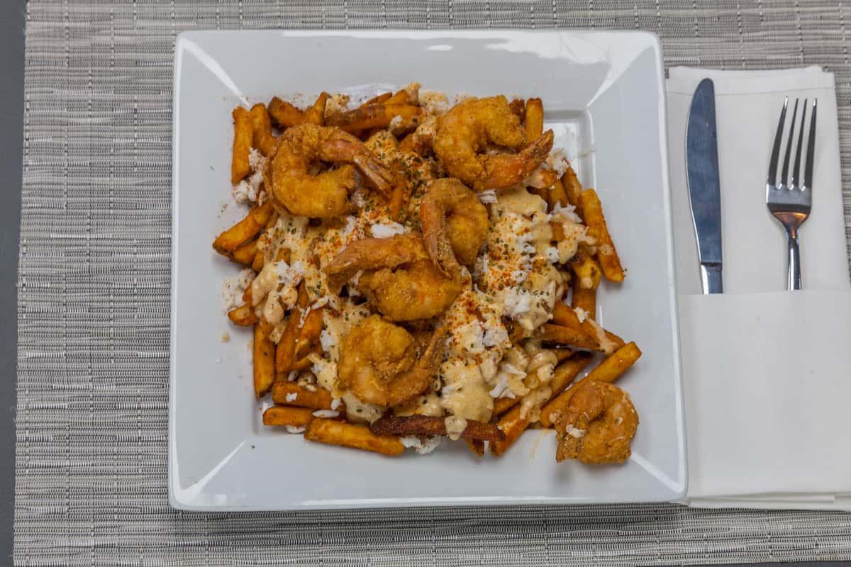 Crabby Fries W/ Shrimp