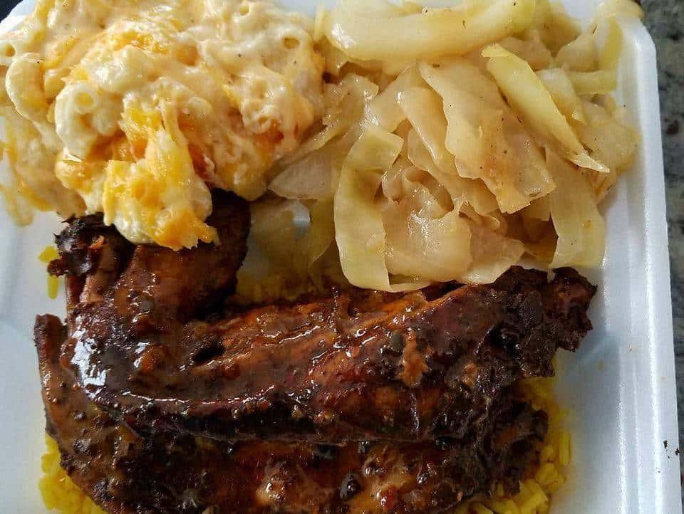 ribs and mac and cheese