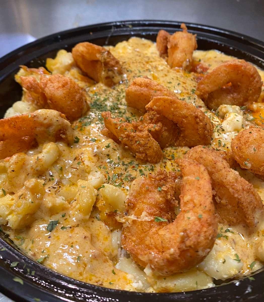 Cajun Shrimp Mac n Cheese