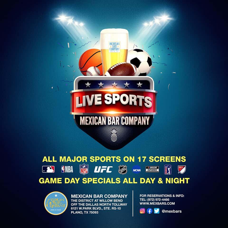 Live Sports on 17 screens