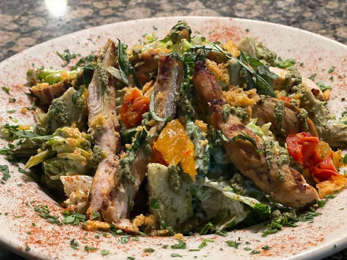 Chicken Pesto & Artichoke Salad