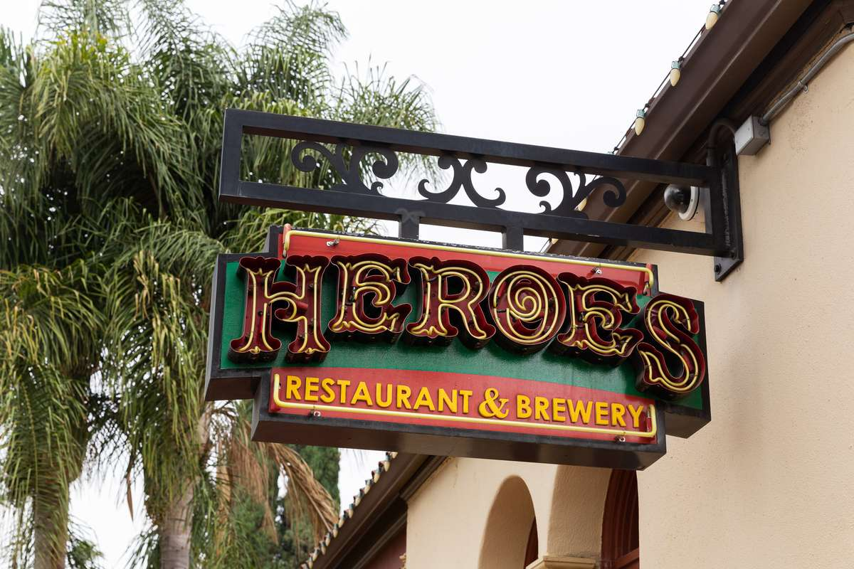 photo of Heroes Neon Sign