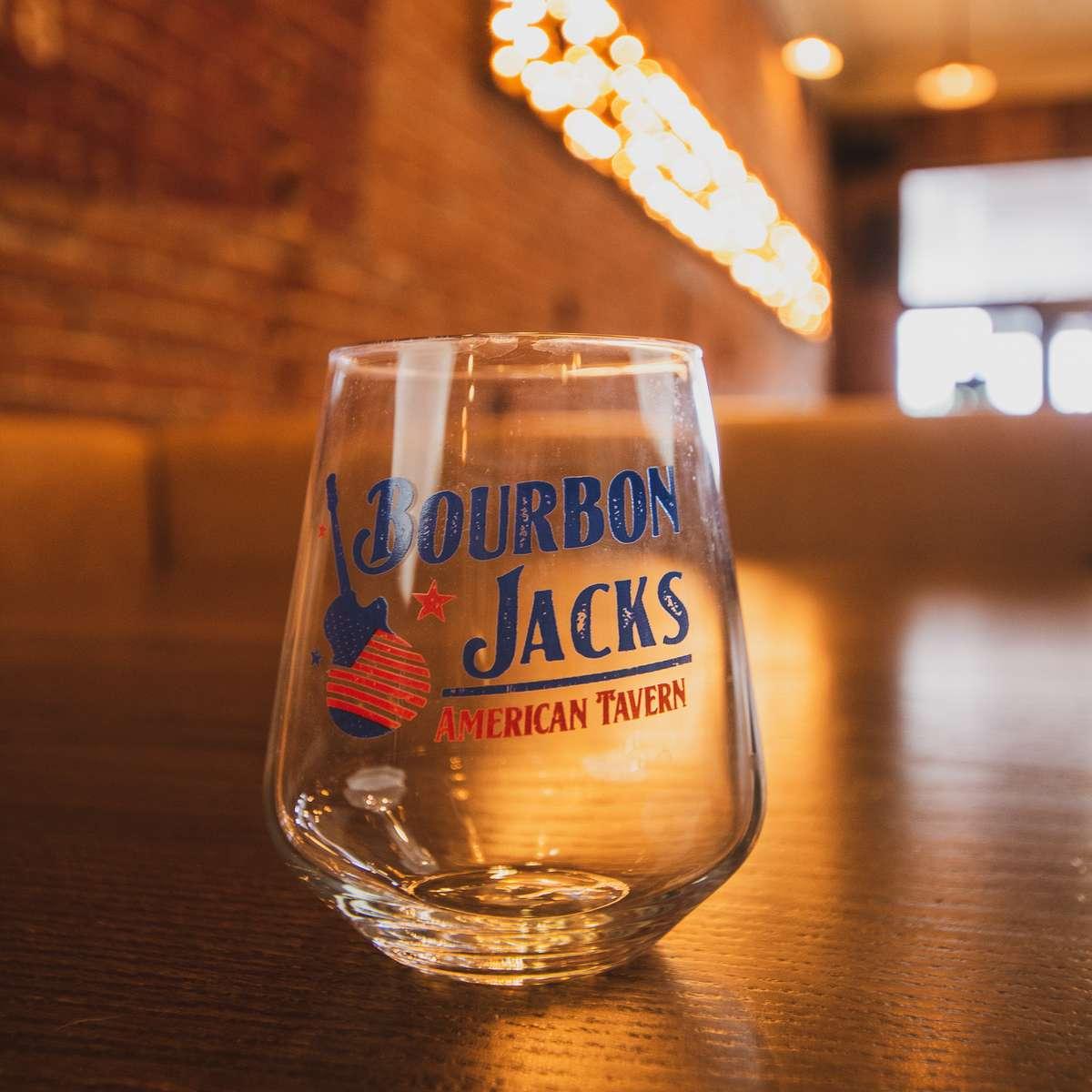 Bourbon Jacks Wine Glass