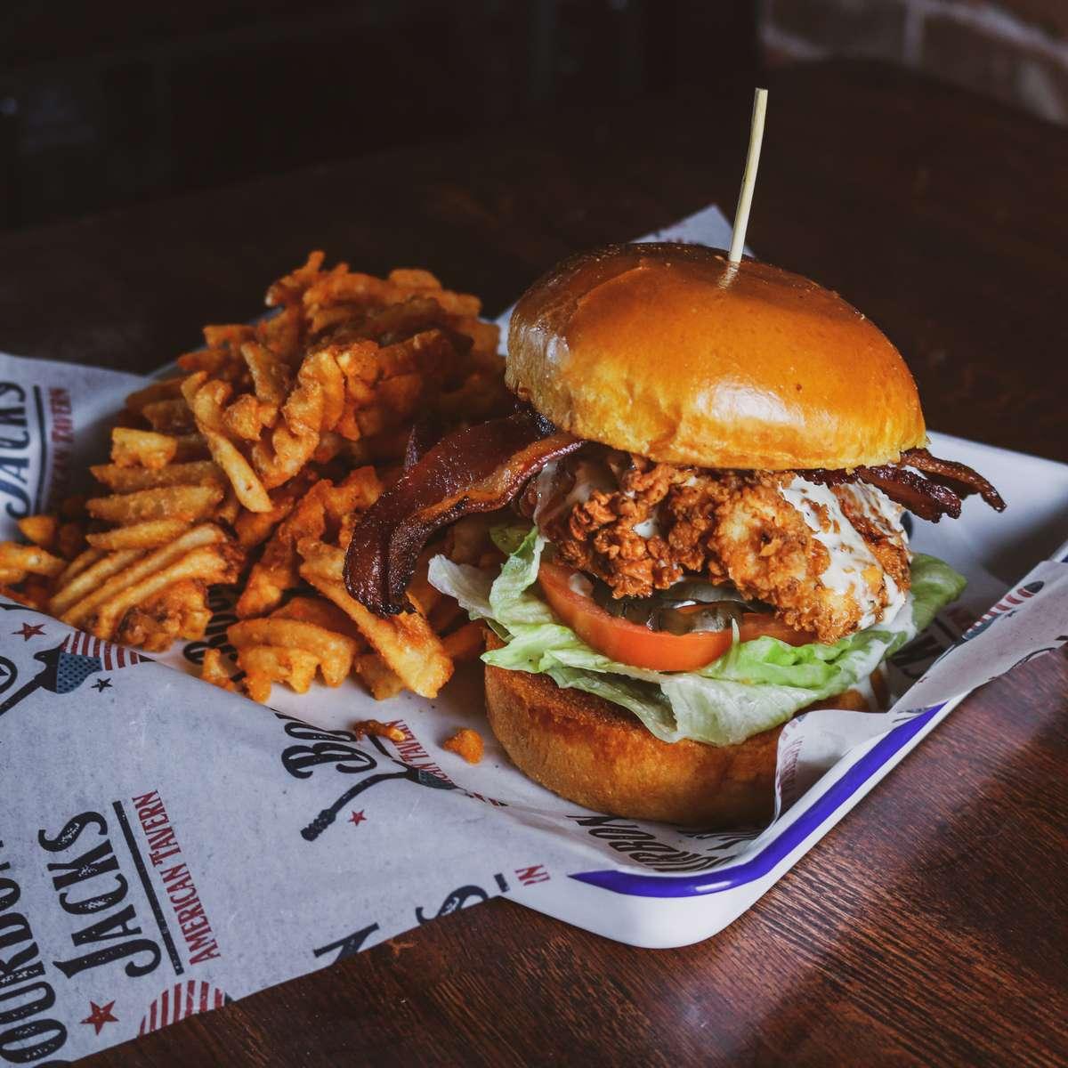 Fried Chicken, Bacon & Ranch Sandwich