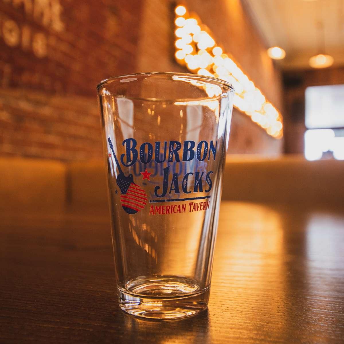 Bourbon Jacks 16 oz Glass