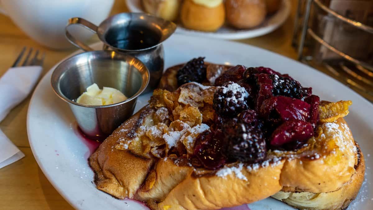 Corn Flake French Toast + Berries