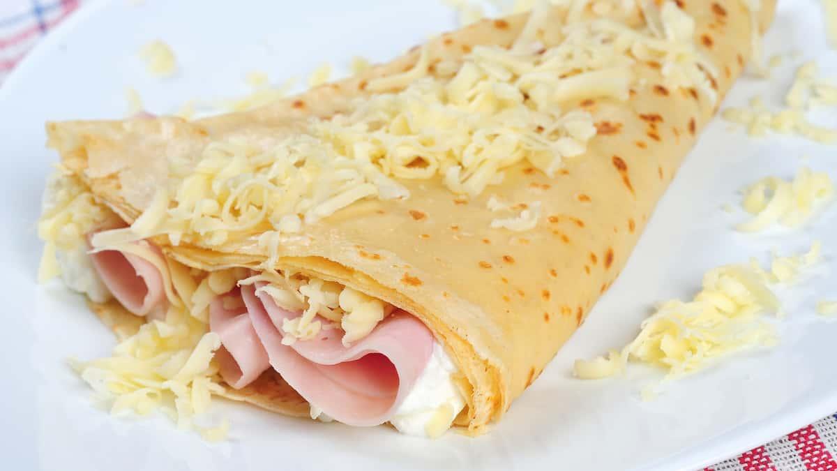 Ham, Cheese, and Mayo Crepe