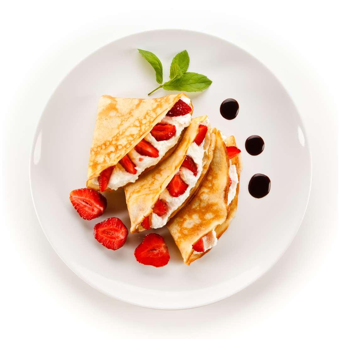 Strawberries and Cream Crepe