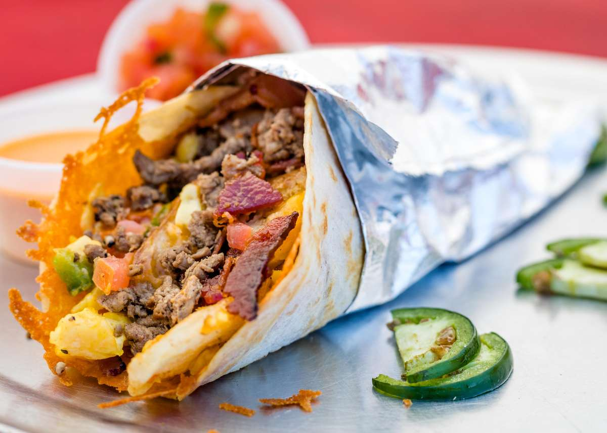 Steak and Bacon Taco