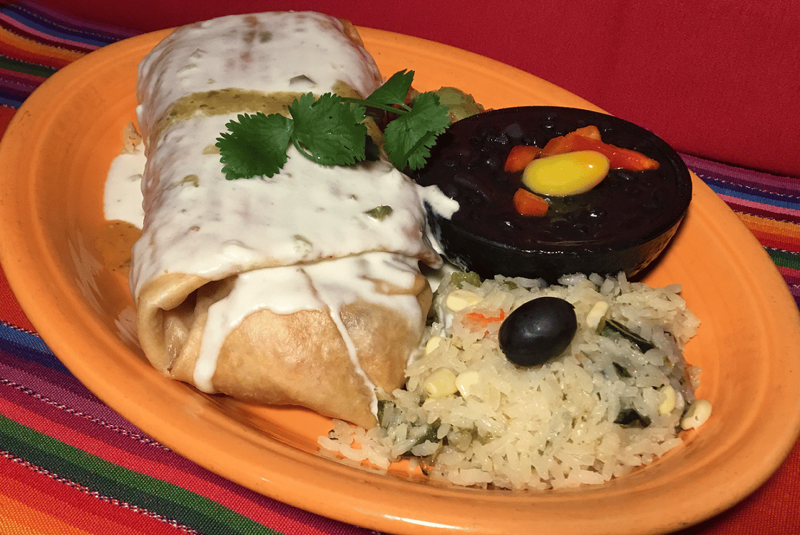 Vegetarian Chimichanga