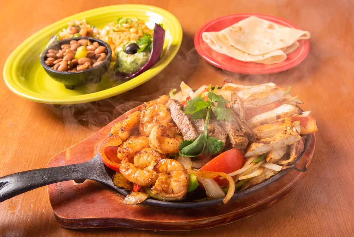 Chicken, Beef & Shrimp Fajitas