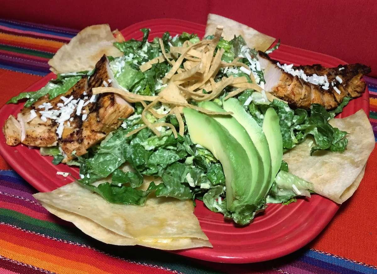 Chicken and Avocado Caesar