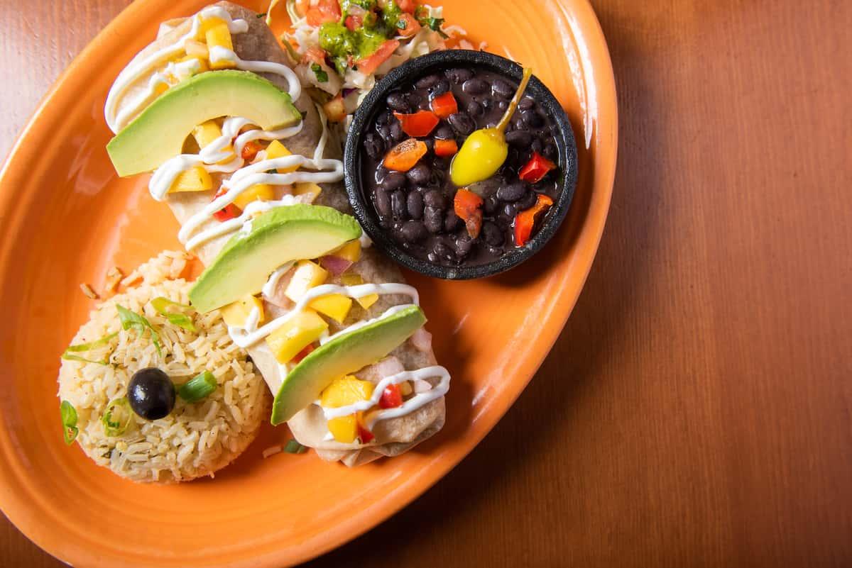 Grilled Chicken Mango and Avocado Burrito
