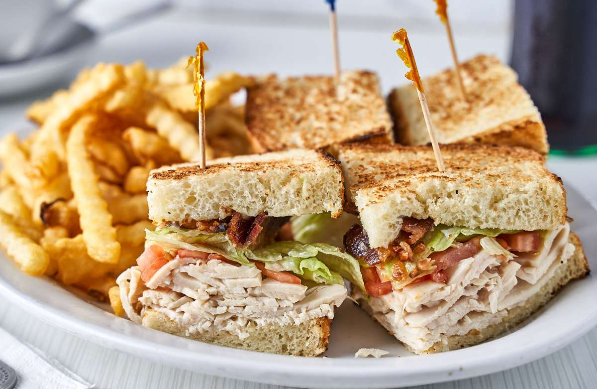 turkey club with fries